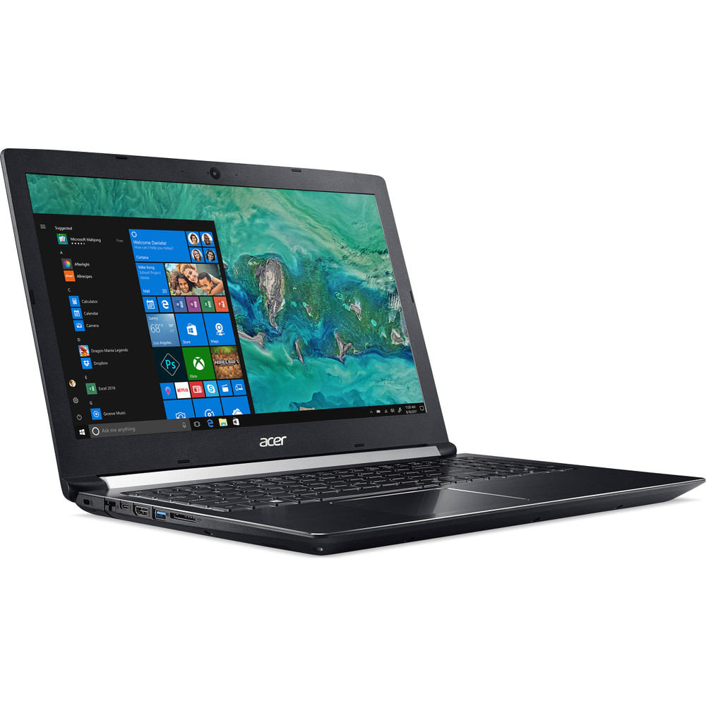 "Acer Aspire 7 -15.6"" Laptop Intel Core i7-8705G 3.1GHz 16GB Ram 512GB SSD Windows 10 Home 