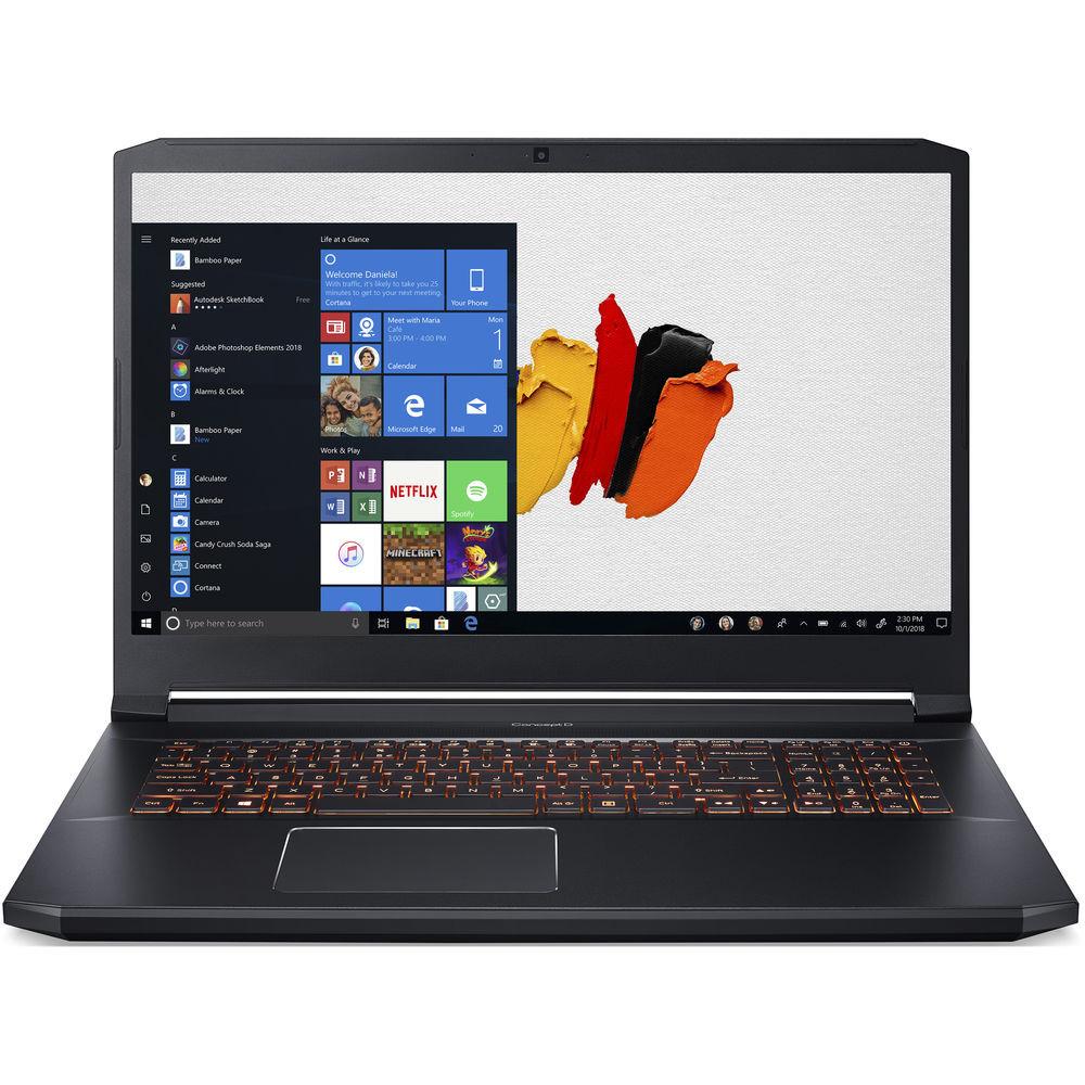 "Acer ConceptD 5 - 17.3"" Intel Core i7-9750H 2.6GHz 16GB Ram 512GB SSD Windows 10 Pro | CN517-71-75ZU"