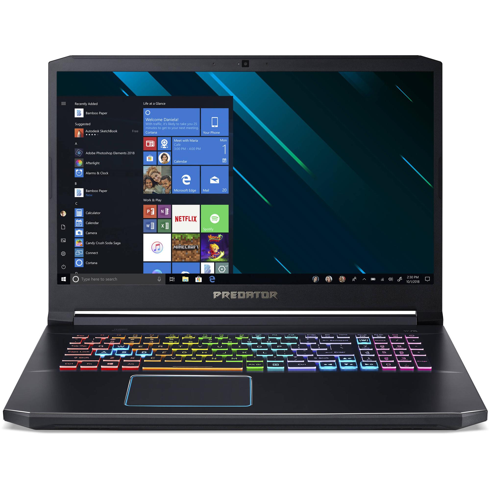 Acer Predator Helios 300 17 3 Laptop Intel Core I7 9750h 2 60ghz 16gb Ram 512gb Ssd Windows 10 Home Ph317 53 7777