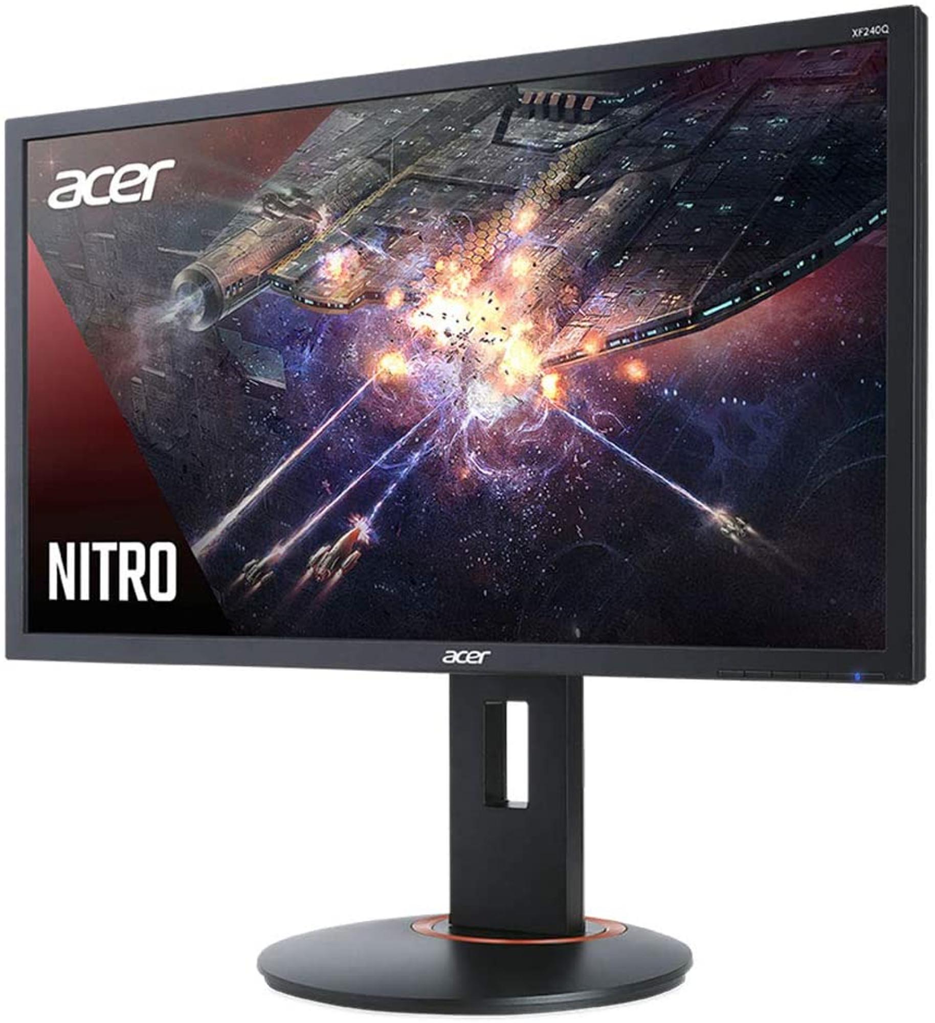 Acer Nitro Xfa240q 23 6 Monitor Fhd 1920x1080 144hz Amd Freesync 1ms Gtg Hdmi