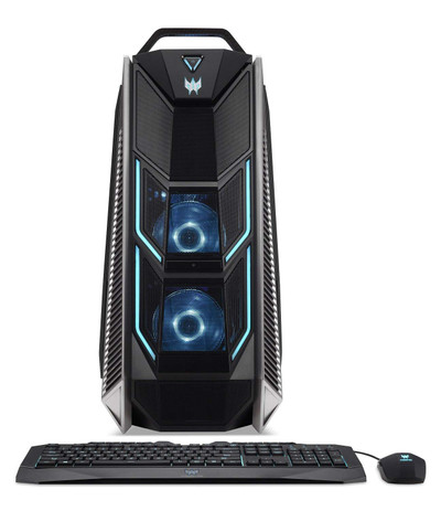 Acer Predator Orion 9000 Desktop Core i7-8700K 3.7GHz 32GB Ram 2TB HDD 512GB SSD Windows 10 Home | PO9-600-I7KFCF1080TI