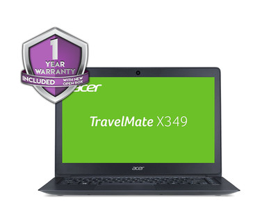 "Acer TravelMate X349 - 14"" Laptop Intel i3-3400U 2.30GHz 4GB Ram 128GB SSD Windows 7 Pro 