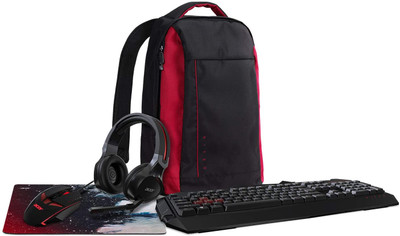 Acer Nitro Combo Accessory Kit - Backpack, Mouse, Mousepad, Keyboard, Headset | Nitro Combo Accessory Kit (5-in-1)