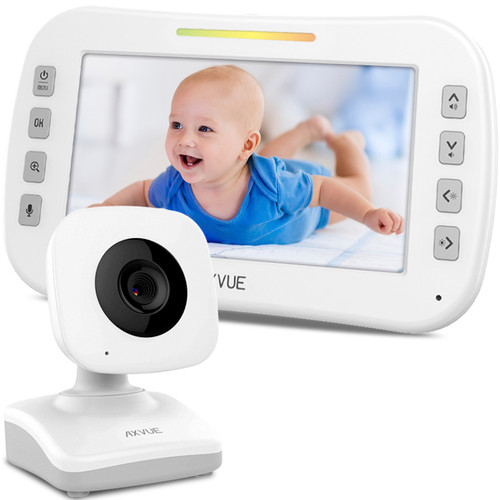 "Video Baby Monitor with 5"" Screen and Day-Night Camera"