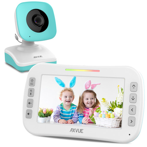 "Video Baby Monitor with 4.3"" Screen and Day-Night Camera BLUE"