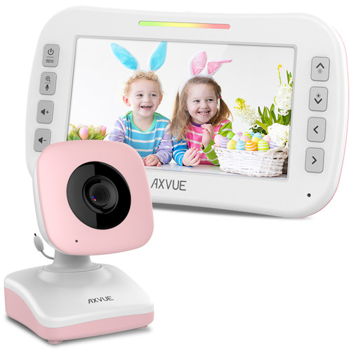 "Video Baby Monitor with 4.3"" Screen and Day-Night Camera PINK"