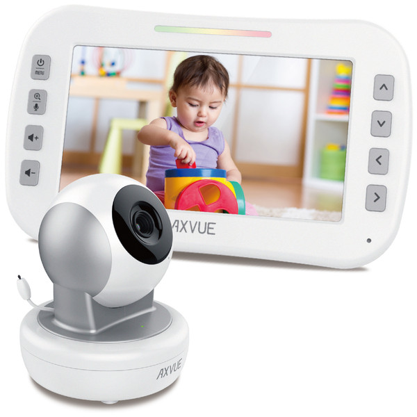 "Video Baby Monitor with 5"" Screen and Remote-Controlled Camera"