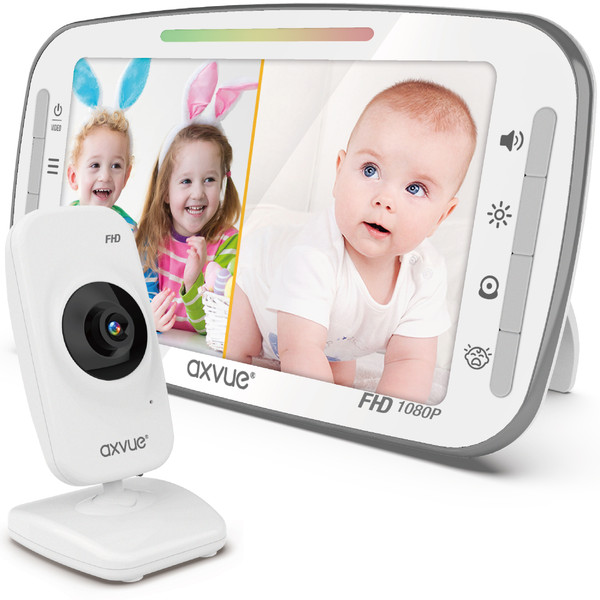 """Video Baby Monitor 1080P 5.5"""" Fabulous Full HD IPS Screen and Remote-Controlled Cameras"""