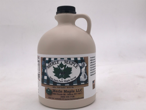 Half Gallon Plastic Jug Pure Maple Syrup