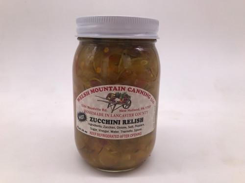 Hot Zucchini Relish 16 oz