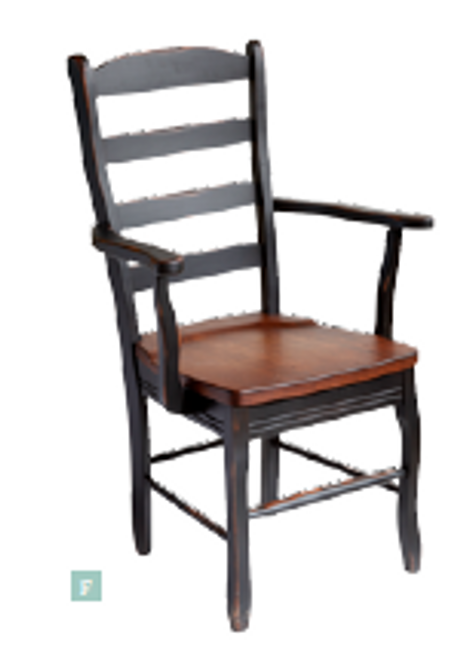 French Ladderback Arm Chair