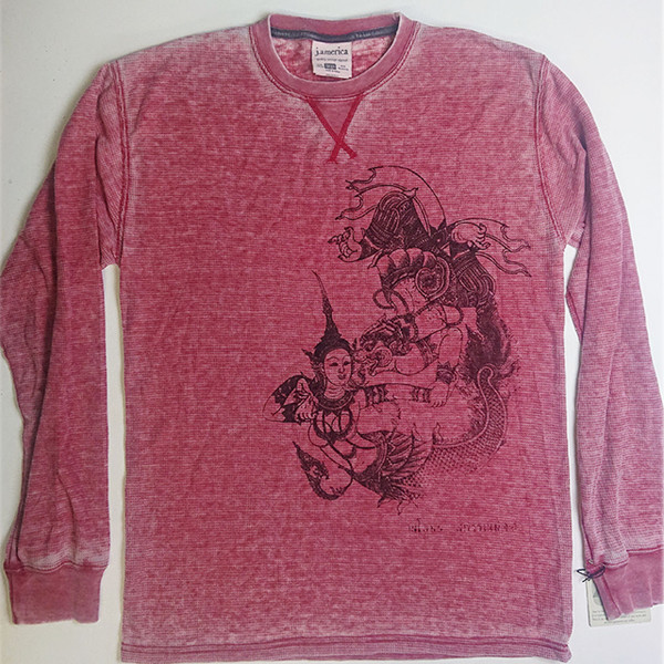 Vintage Thai | Red Thermal L/S