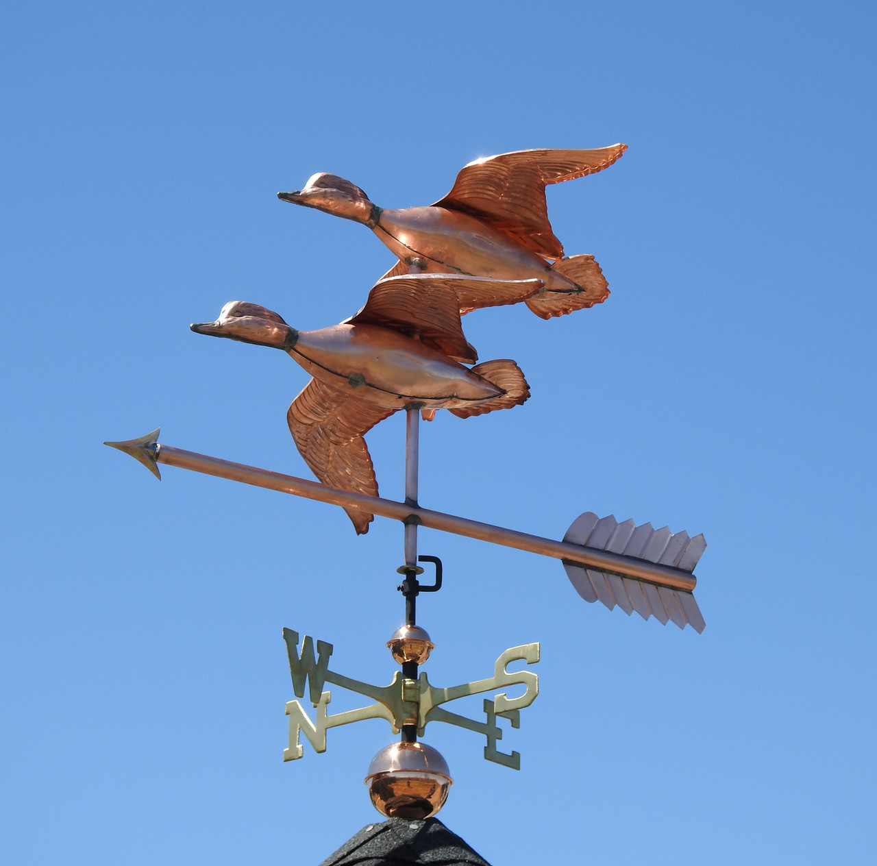 Two Flying Ducks Weathervane At Weathervanes Of Maine