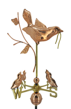 Mother Bird and Chicks Weathervane