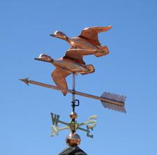 Two Flying Ducks Weathervane