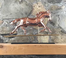 Copper Horse with Mantle Base