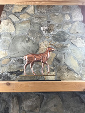 Copper Deer with Mantle Base