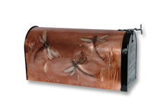 Dragonfly Copper Mailbox