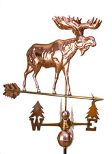 Classic Moose Weathervane With Tree Directionals