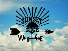 Custom Sunset Rice Weathervane