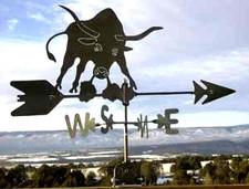 Longhorn Bull Weathervane