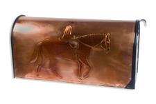 Fox Hunter Copper Mailbox