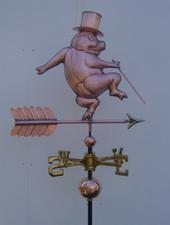 Dancing Pig Weathervane
