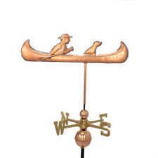 Man and Dog in Canoe Weathervane