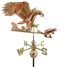 Diving Eagle with Fish Weathervane