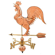 Large Crowing Rooster Weathervane