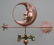 Large Handmade Moon Weathervane