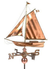 Large Sloop Weathervane
