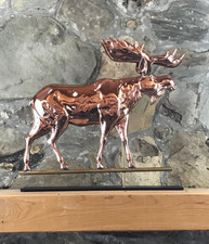 Copper Moose with Mantle Base