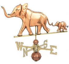 Elephant with Baby Weathervane