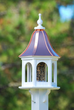 "12""W x 28""H - Hexagon Gazebo Birdfeeder 1"