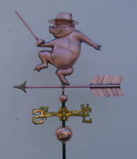 Zorro Pig Weathervane