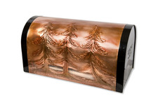 Pine Trees Copper Mailbox