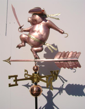 Pirate Pig Weathervane
