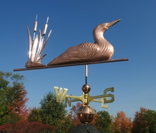 Loon and Cat Tails Weathervane