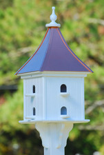"14""W x 36""H - Square Purple Martin House with Perches"