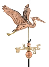 Sculpted Heron Weathervane
