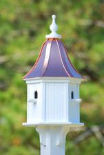 "12""W x 28""H - Hexagon Dovecote Birdhouse with Perches"