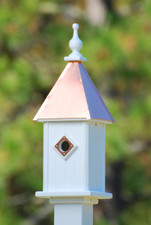 "8""W x 26""H - Square Blue Bird House"