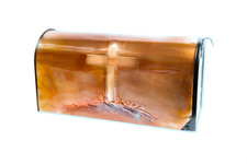 Rural Old Rugged Cross Copper Mailbox