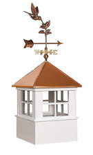 "25""sq Vinyl Chester Cupola With Hummingbird Weathervane Set"