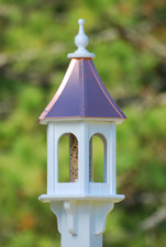 "10""W x 28""H - Hexagon Gazebo Birdfeeder"