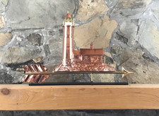 Copper Lighthouse with Mantle Base