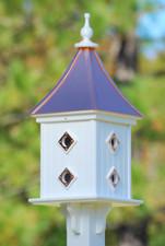 """12""""W x 28""""H - Square Dovecote Birdhouse"""