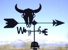 Buffalo Skull Weathervane