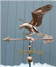Large Osprey with Fish Weathervane